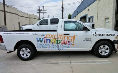 Truck Graphics for Window Treatment Store in Chatsworth, CA | Galaxy Draperies