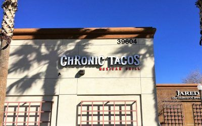 Illuminated Channel Letters for Restaurant in Palmdale, CA | Chronic Tacos