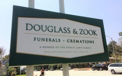 Pole Sign Restoration for Funeral Home in Monrovia, CA | Douglass & Zook