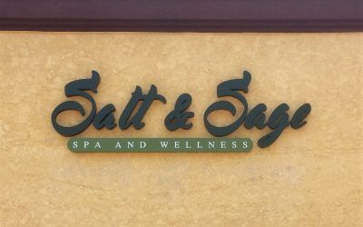 Illuminated Building Signage for Day Spa in Simi Valley, CA | Salt & Sage