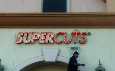LED Conversion for Channel Letter Sign in Porter Ranch, CA | Supercuts