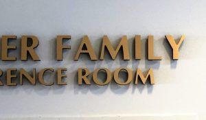 conference room sign for synagogue in west hills ca shomrei torah
