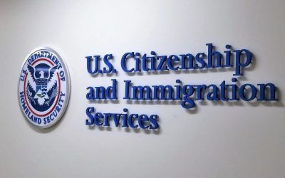 Custom Wall Sign for Government Agency Office in Los Angeles, CA | USCIS