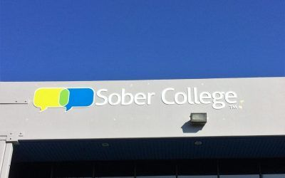 Acrylic Letter Sign for Treatment Center in Woodland Hills, CA | Sober College