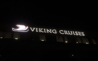 Halo-lit Channel Letters for Cruise Line in Woodland Hills, CA | Viking Cruises