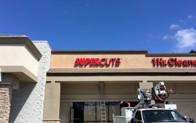 Storefront Logo Sign for Hair Salon in Lake Forest, CA | Supercuts