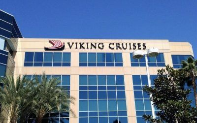 Custom Logo Box Sign for Cruise Line in Los Angeles, CA | Viking Cruises