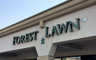 Custom Business Sign for Advance Planning Center in Whittier, CA | Forest Lawn