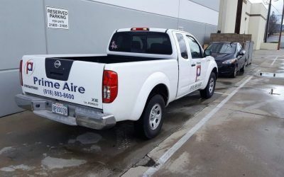Truck Graphics for HVAC Design and Installation Company in Van Nuys, CA | Prime Aire