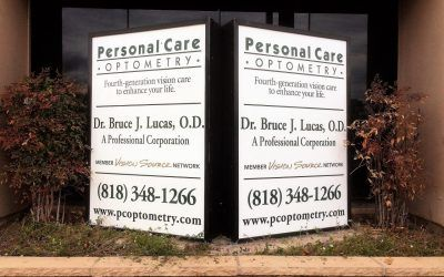 Monument Sign Update for Optometrist in Woodland Hills, CA | Personal Care Optometry