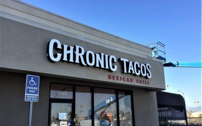 Business Signs for Mexican Restaurant Franchise in Rowland Heights, CA | Chronic Tacos