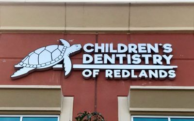 Channel Letter Sign for Pediatric Dentist in Redlands, CA | Children's Dentistry of Redlands