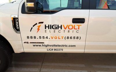 Truck Graphics for Electricians in San Fernando Valley | High Volt Electric