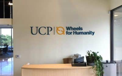 Indoor Wall Letters for Non-Profit Organization in Chatsworth, CA | UCP Wheels for Humanity
