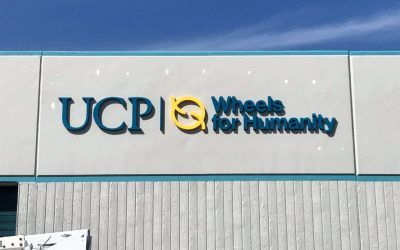 Outdoor Dimensional Lettering for Non-Profit Organization in Chatsworth, CA | UCP Wheels for Humanity