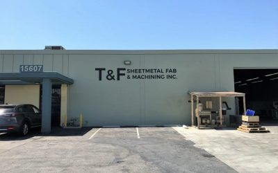 Building Letters for Fabrication and Machining Company in Gardena, CA | T&F Sheetmetal Fab