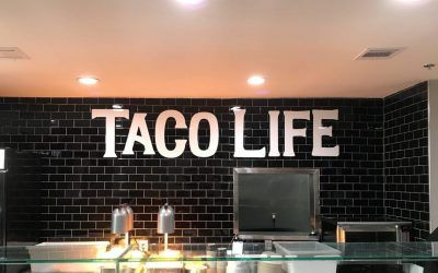 Indoor Letter Sign for Mexican Restaurant in Burbank, CA | Chronic Tacos