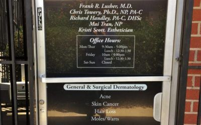Wayfinding and Advertising Door Graphics for Dermatologist in Mission Hills, CA | Tri-Valley Dermatology