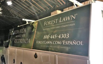 Large Van Graphics for Memorial Park & Mortuary in Glendale, CA | Forest Lawn