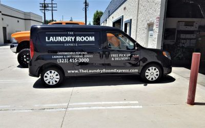 Vehicle Advertising for Laundry Service in Los Angeles, CA | The Laundry Room Express