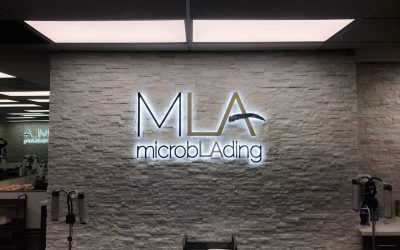 Lighted Lobby Sign for Permanent Make-up Clinic in Woodland Hills, CA | Microblading LA