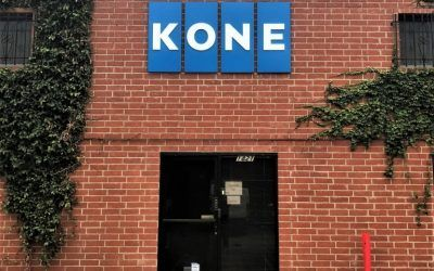 Custom Outdoor Logo Sign for International Elevator and Escalator Company in Glendale, CA | KONE