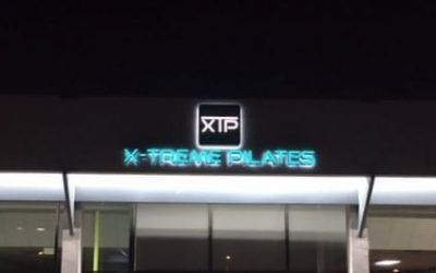 Illuminated Sign for Pilates Studio in La Canada Flintridge, CA | X-treme Pilates