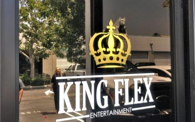 Window Advertising for Production & Entertainment Company in Los Angeles, CA | King Flex Entertainment
