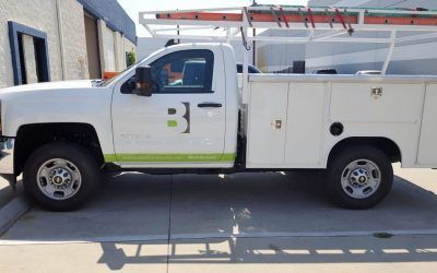 Advertising with Vehicle Graphics for Construction Company in Encino, CA | Boswell Construction Inc.