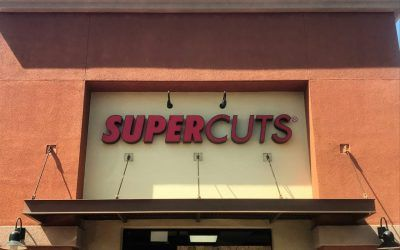 Storefront Channel Letter Signage for a Hair Salon in Claremont, CA | Supercuts
