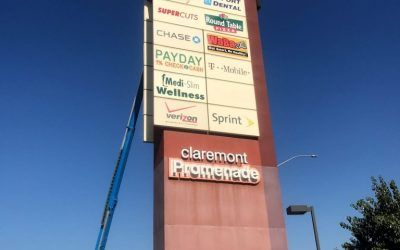 Updating Pylon Signs and Monument Signs for Hair Salon in Claremont, CA | Supercuts