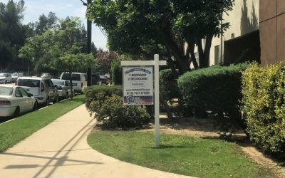 Post & Panel Signs for Property Management Company in San Fernando Valley   Real Property Management