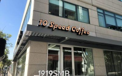 Channel Letter Sign for Coffee Shop in Santa Monica, CA | 10 Speed Coffee