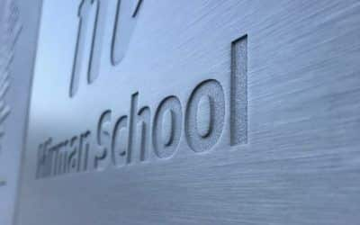 Aluminum Plaques for Independent School in Bel-Air, CA | Mirman School