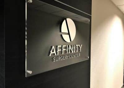 Acrylic Sign for Affinity Surgery Center in Encino, CA