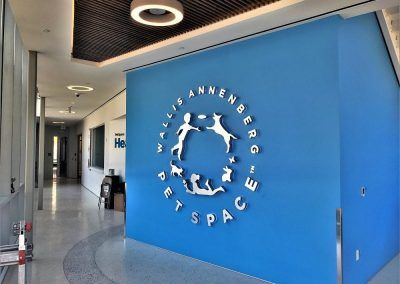 Lighted Commercial Sign for Wallace Annenberg PetSpace in Playa Vista, CA