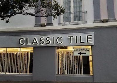 Signs for Retail Store for Classic Tile in Santa Monica, CA