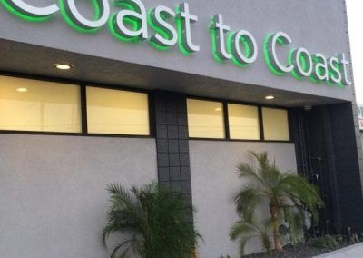 Lit Sign Letters for Coast to Coast in Canoga Park, CA