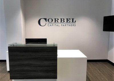 Professional Office Signs for Corbel Capital Partners in Los Angeles, CA