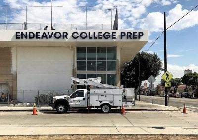 Building Sign Letters for Endeavor College Prep in Los Angeles, CA