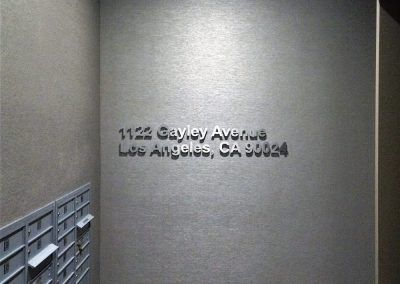 Apartment Address Signs for Mail Room in Los Angeles, CA