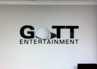 Acrylic Logo Sign for Entertainment Company in Woodland Hills, CA