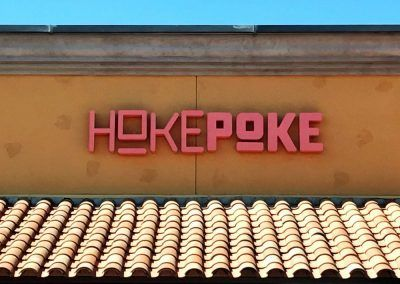Restaurant Name Sign for Poke Bar in Palmdale, CA