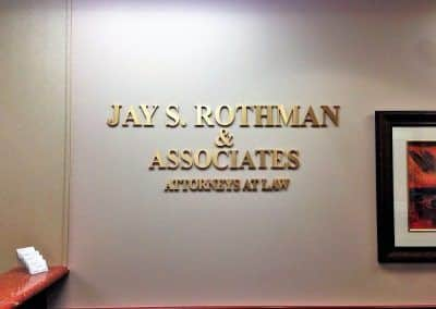 Law Firm Sign for Jay Rothman & Associates in Woodland Hills, CA