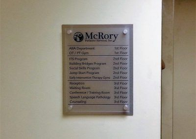 Indoor Directional and Wayfinding Sign for McRory Pediatric in Encino, CA