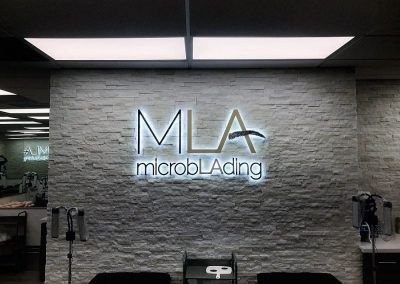 Electric Illuminated Sign for Microblading LA in Woodland Hills, CA