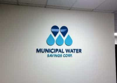 Commercial Wall Signs for Municipal Water Savings Corp. in Los Angeles, CA