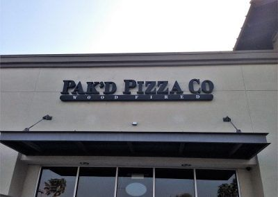 Storefront Restaurant Sign for Pizza Restaurant in Chatsworth, CA