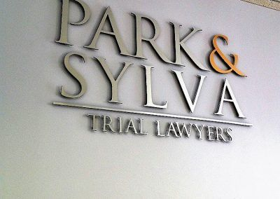 Law Firm Lobby Signs for Park & Sylva Trial Lawyers in Los Angeles, CA