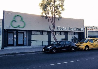 Retail Store Sign for Coast to Coast Collective in Canoga Park, CA
